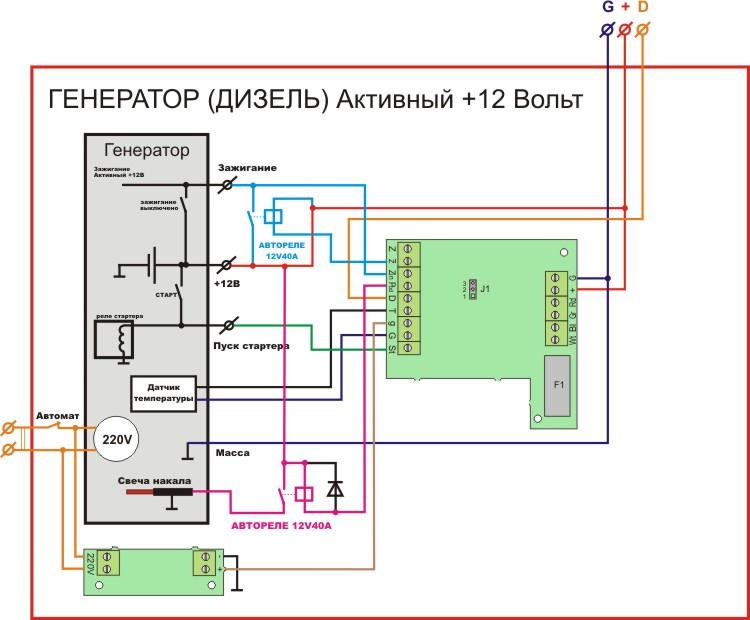 эл схема включения газ котельной по 2 категории с использованием дизель генератора